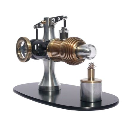 Front view displacer piston of Stirling engine